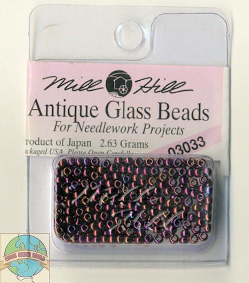 Mill Hill Antique Glass Beads 2.63g Claret #03033