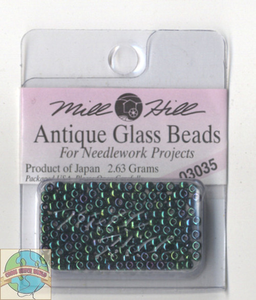 Mill Hill Antique Glass Beads 2.63g Royal Green #03035