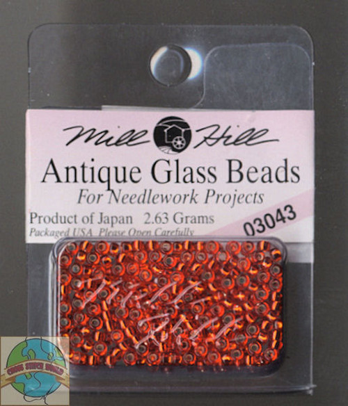 Mill Hill Antique Glass Beads 2.63g Oriental Red #03043
