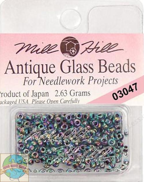 Mill Hill Antique Glass Beads 2.63g Blue Iris #03047