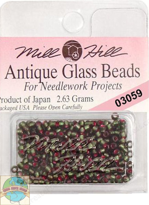 Mill Hill Antique Glass Beads 2.63g Green Velvet #03059