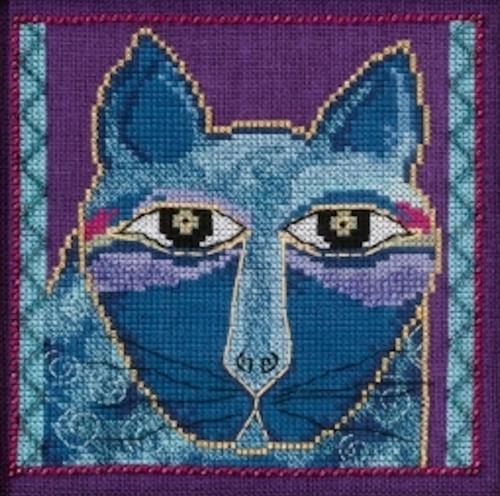 Mill Hill / Laurel Burch - Wild Blue Cat (AIDA)