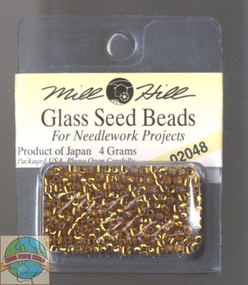 Mill Hill Glass Seed Beads 4g Golden Olive #02048