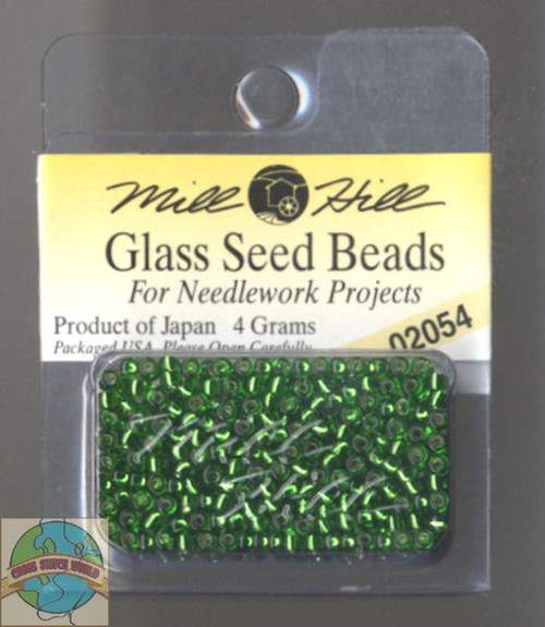 Mill Hill Glass Seed Beads 4g Brilliant Shamrock #02054