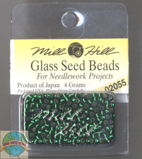 Mill Hill Glass Seed Beads 4g Brilliant Green #02055
