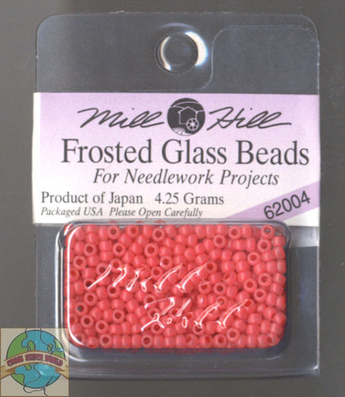 Mill Hill Frosted Glass Seed Beads 4.25g Tea Rose #62004