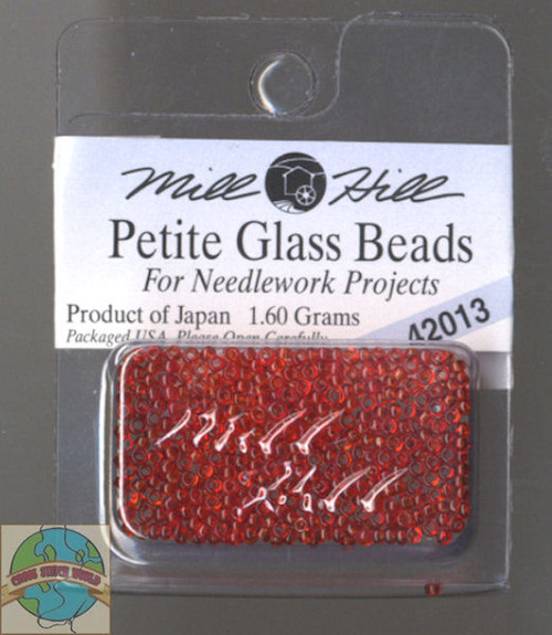 Mill Hill Petite Glass Beads 1.60g Red Red #42013