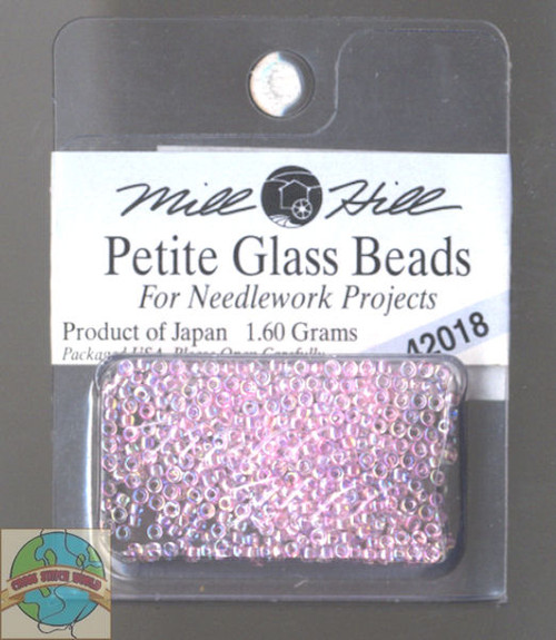 Mill Hill Petite Glass Beads 1.60g Crystal Pink #42018