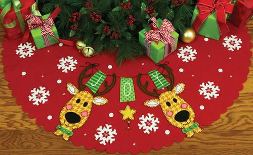 Dimensions - Reindeer Joy Tree Skirt