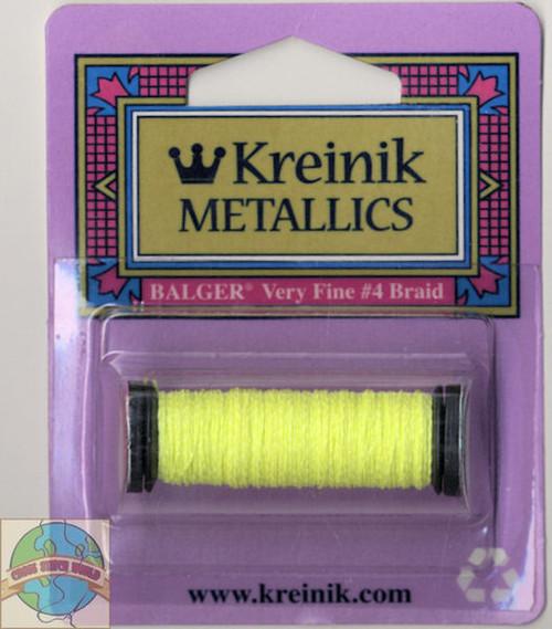 Kreinik Metallics - Very Fine #4 Fluorescent Lemon-Lime #054F