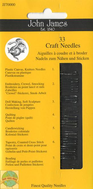John James - 33 Assorted Craft Needles