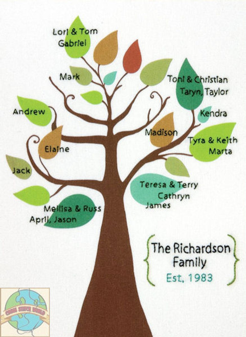 Dimensions - Stylized Family Tree - SALE!