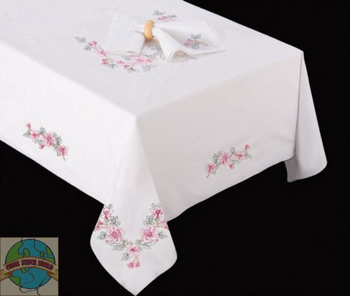 Design Works - Wild Rose 58in x 90in Tablecloth
