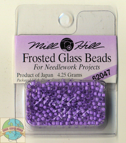 Mill Hill Frosted Glass Seed Beads 4.25g Lavender