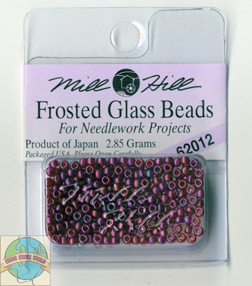 Mill Hill Frosted Glass Seed Bead 4.25g Royal Plum