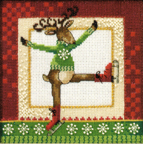 2010 Mill Hill Debbie Mumm Skating Reindeers - Rupert