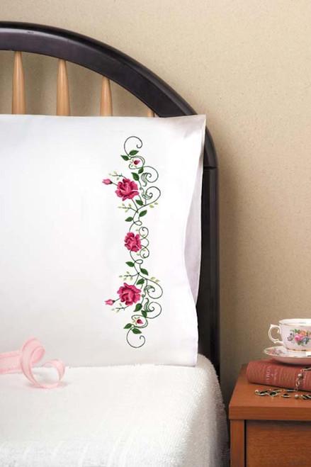 Design Works - Rose Vine Pillowcases (2)