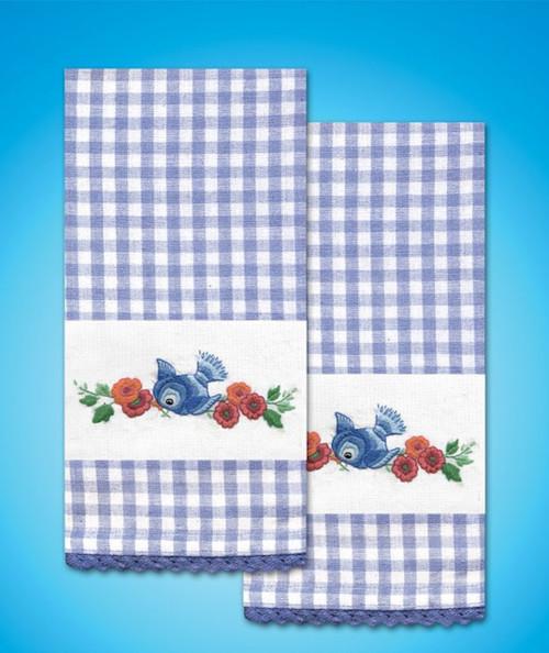 Design Works - Bluebird Towels (2)