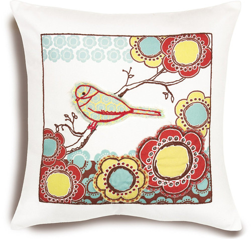 Dimensions - Bird on Branch Pillow Cover