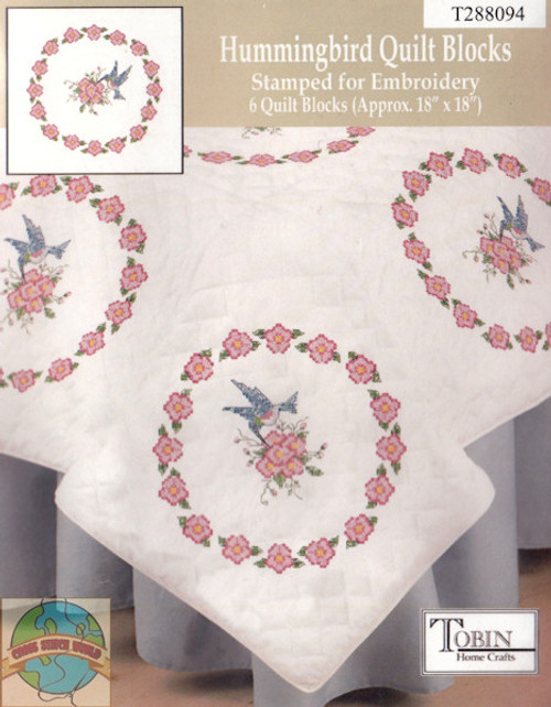 Design Works - Hummingbird Quilt Blocks (6)