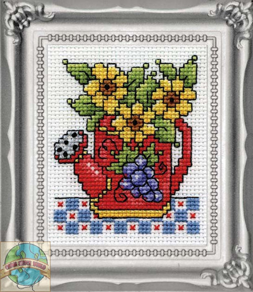 Design Works - Watering Can Picture Kit with Frame