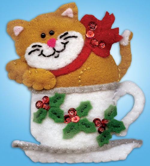 Design Works - Teacup Cat Ornament