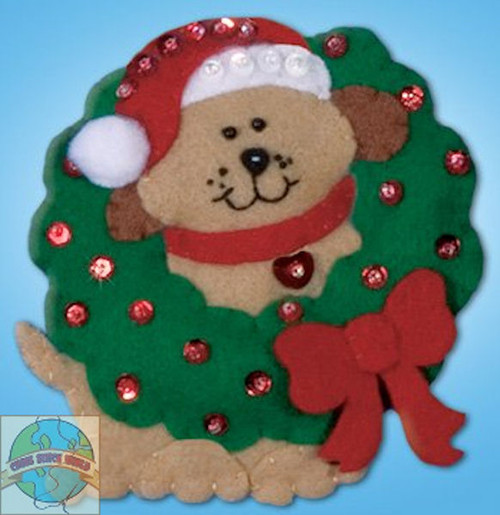Design Works - Dog and Wreath Ornament