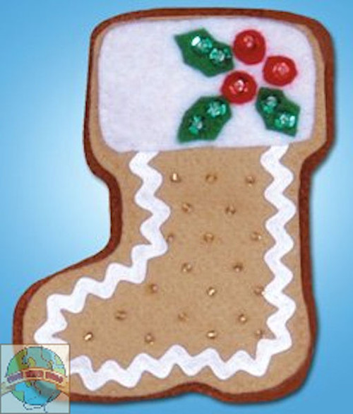 Design Works - Gingerbread Stocking Ornament