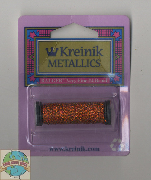 Kreinik Metallics Very Fine #4 Orangeruptis #027L