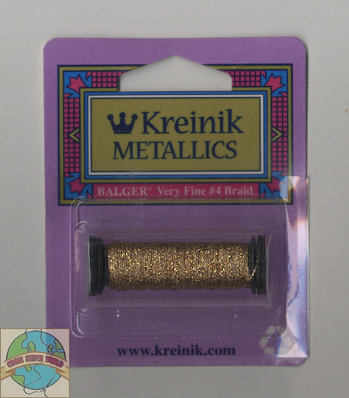 Kreinik Metallics - Very Fine #4 Antique Gold 221