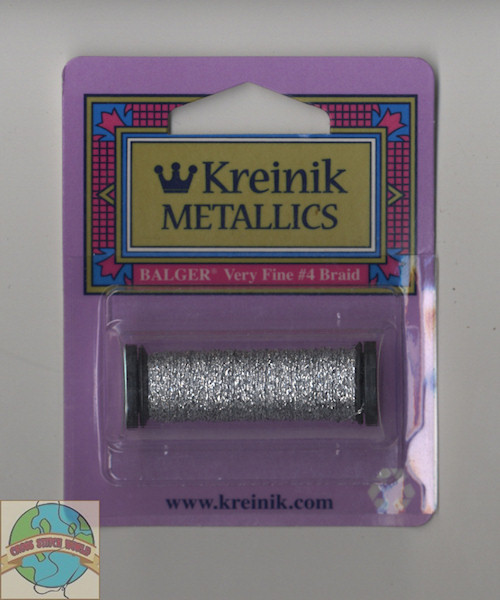 Kreinik Very Fine #4 Silver (Hi Lustre) 001HL