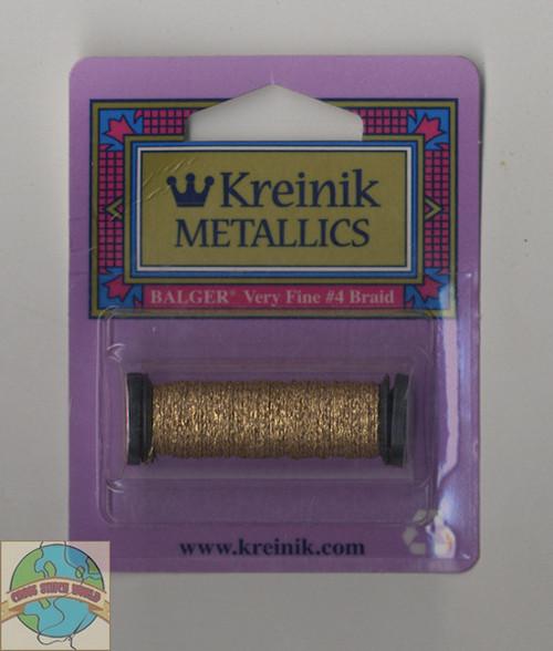 Kreinik Metallics - Very Fine #4 Vintage Gold #002V