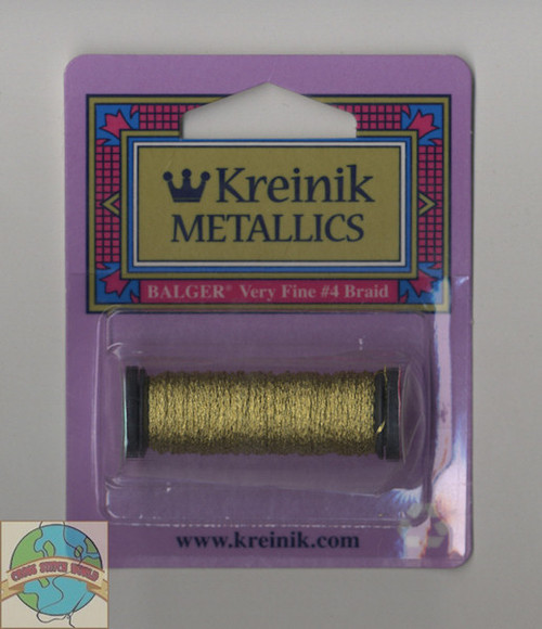Kreinik Metallics - Very Fine #4 Gold 002C