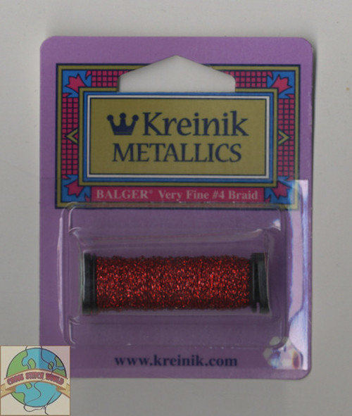 Kreinik Metallics - Very Fine #4 Robot Red #003L