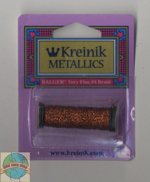 Kreinik Metallics Very Fine #4 Vintage Sienna #152V