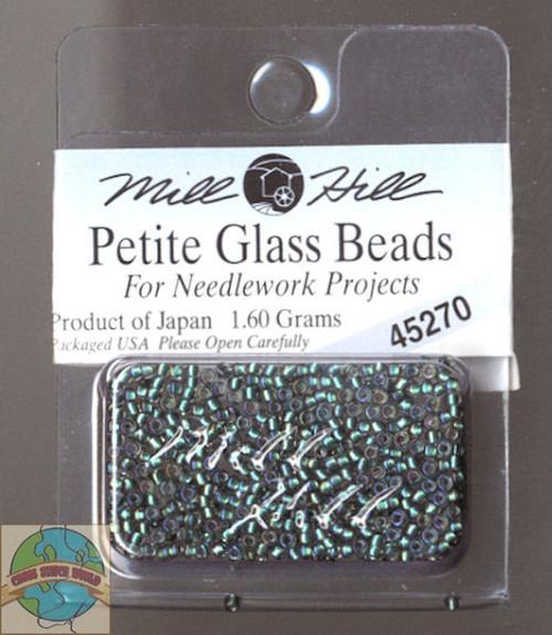 Mill Hill Petite Glass Beads 1.60g Bottle Green #45270