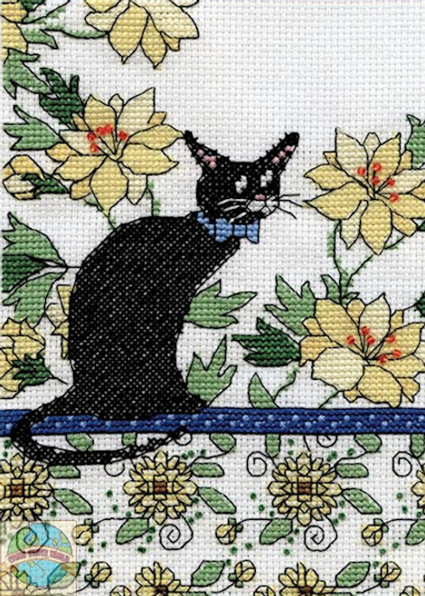 Design Works - Yellow Floral Cat