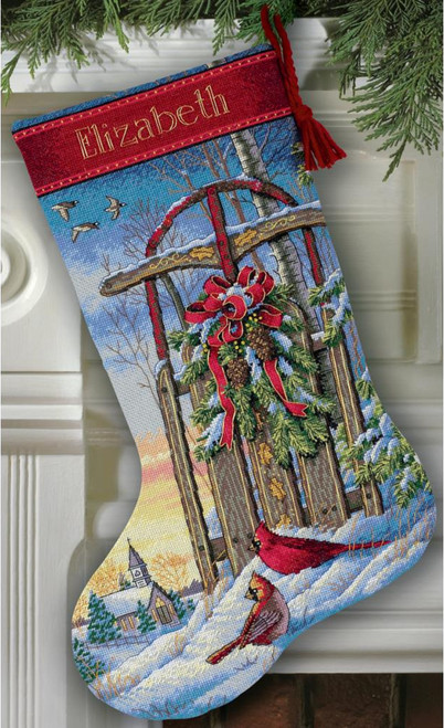 Gold Collection - Christmas Sled Stocking