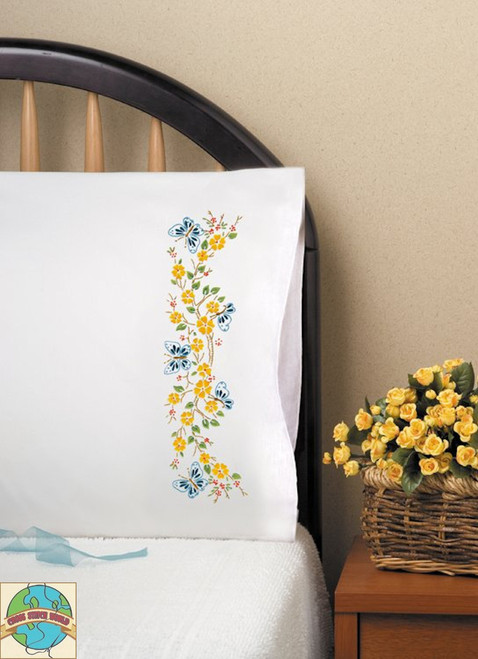 Design Works - Butterfly Branch Pillowcases (2)