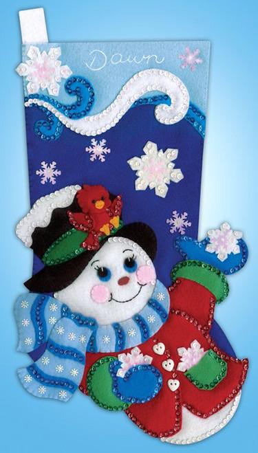 Design Works - Snowflake Snowman Stocking