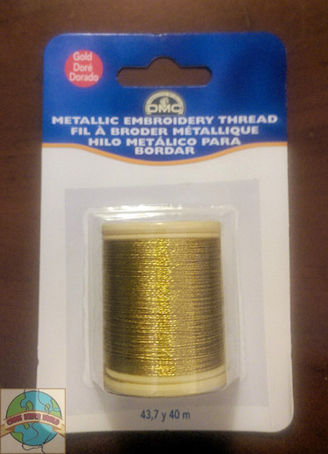 DMC - 43.7 Yard Spool of Gold Metallic Embroidery Thread