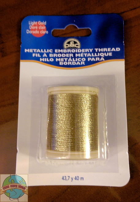 DMC - 43.7 Yard Spool of Light Gold Metallic Embroidery Thread