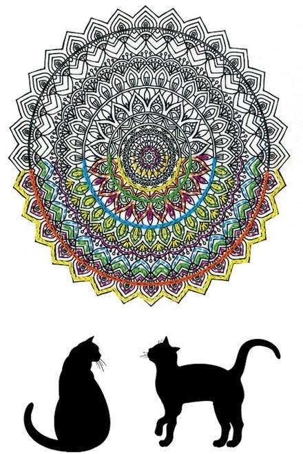 "Design Works - Zenbroidery Cat Mandala 10"" x 16"""