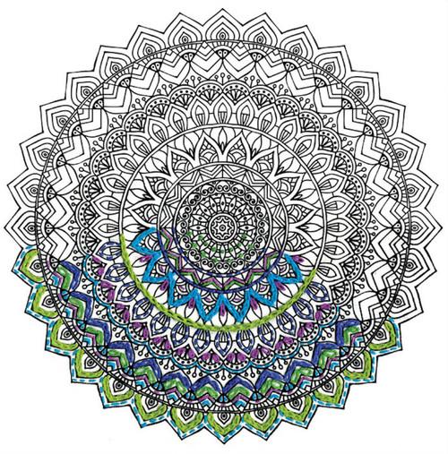 "Design Works - Zenbroidery Mandala 10"" x 10"""