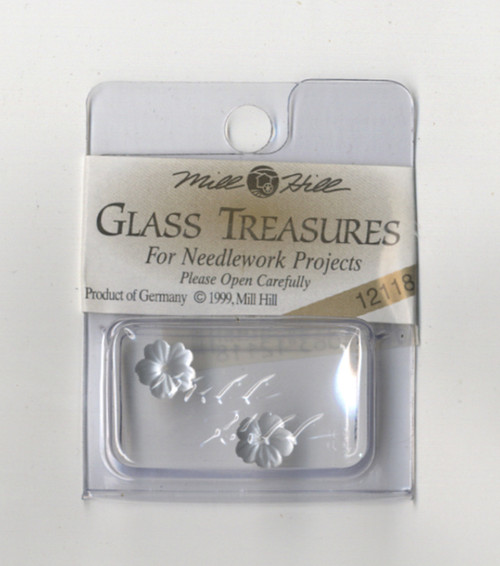 Mill Hill Glass Treasures - Petite Flower Matte Silver #12118