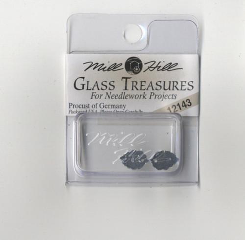 Mill Hill Glass Treasures - Medium Leaf Matte Tourmaline #12143