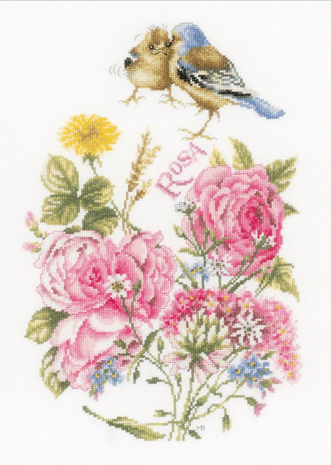LanArte - Marjolein Bastin Finches and Roses