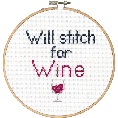 """Dimensions """"Say It!"""" - Stitch for Wine"""
