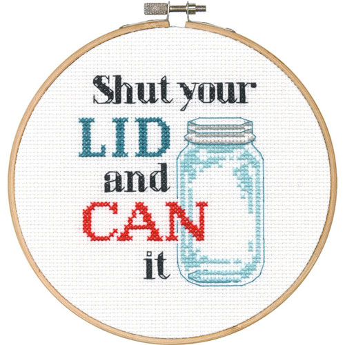 """Spooning #70-74638 Cross Stitch Kit ~ Dimensions /""""Say It!/"""" Humor Collection"""