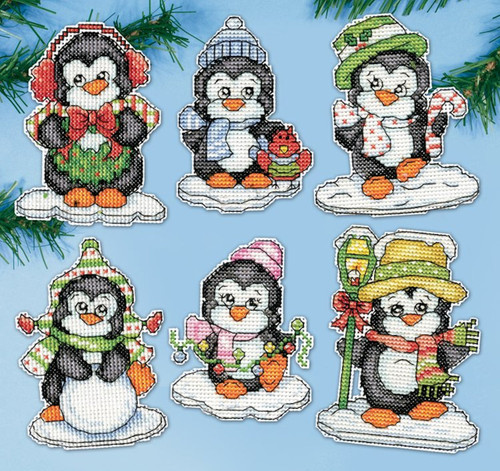 Design Works - Penguins on Ice Ornaments